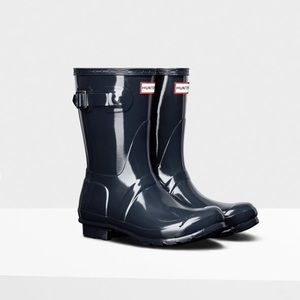 NEW Hunter Original Short Gloss Rain Boots